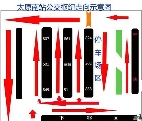 太原南站公交导乘图
