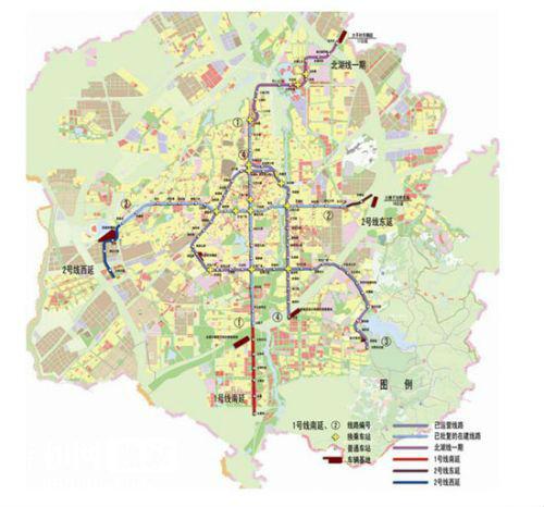 长春地铁1 2号线规划有调整向四个方向延长