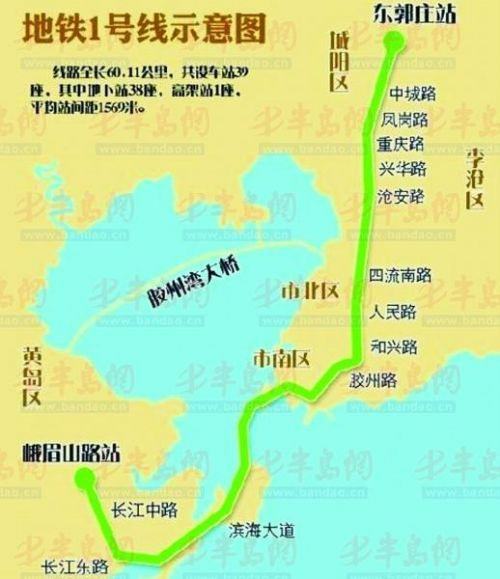 青岛地铁1号线今年开挖过海隧道