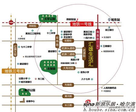 哈尔滨南直路地图