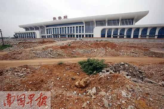 贵港投25亿建高铁广场 3条公交线路通高铁站 图图片