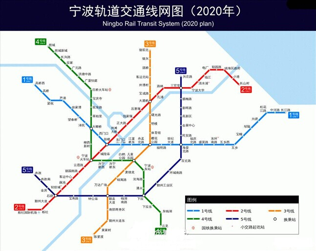 最新宁波地铁规划图示意图曝光 公布4号线选址