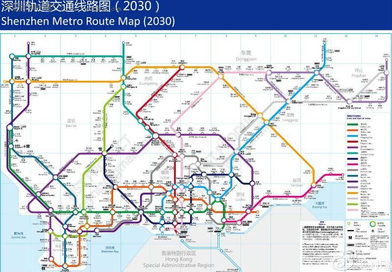 深圳地铁规划线路图详细介绍