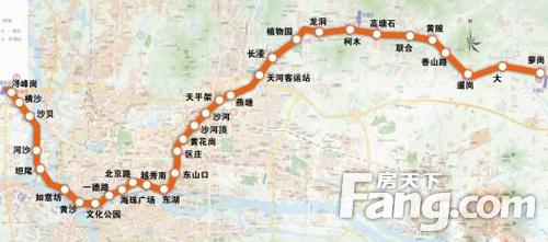 广州地铁6号线路线图-步行仅需10分钟 广州东真正地铁笋盘热荐图片