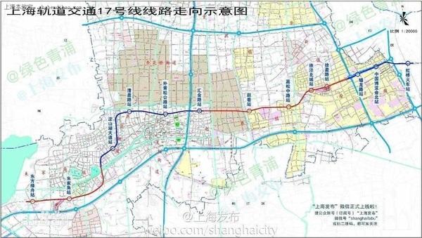 上海地铁17号线路图,发挥淀山湖生态优势图片