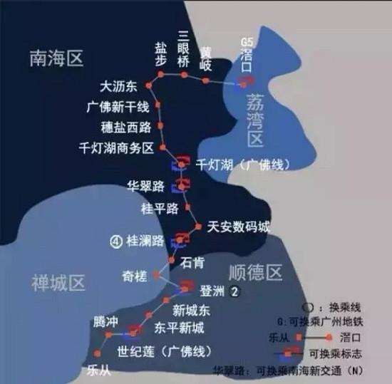 囍广州地铁22号线南站提前建 佛山地铁9条线直图片