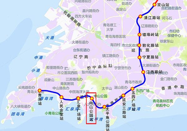 经过青岛地铁3号线中山公园站的线路有26路