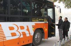 """新疆温宿至阿克�""""BRT�公交车正�通车(图)"""