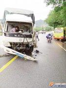 厦门一公交车与货车相撞 车头俱碎7人受伤(图)