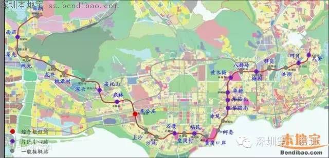 深圳地铁7号线线路图 站点 开通时间 消息汇总图片