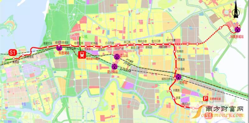 苏州地铁s1号线线路图最新消息 轨道交通概念股图片