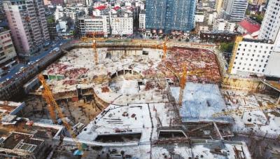 长沙五一广场地下商场对接地铁年底完成主体