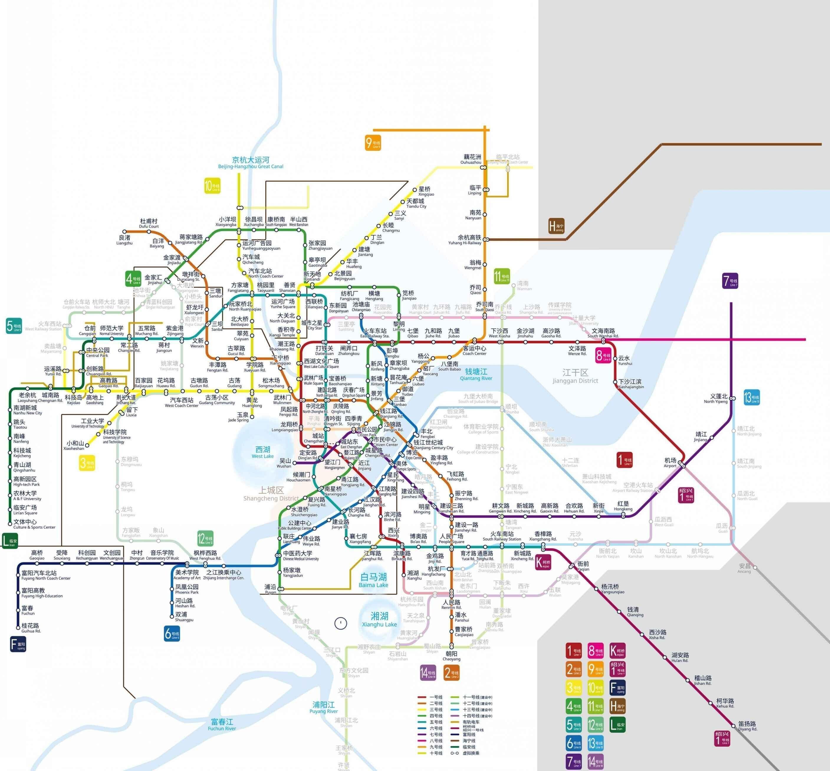 杭州地铁规划图曝光解析地铁沿线未开业商业项