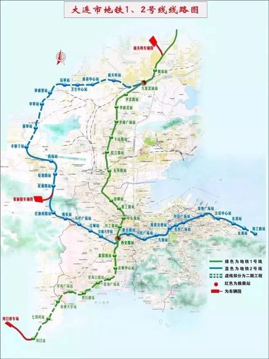 大连市星海公园地图