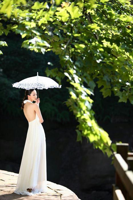 清纯靓丽白衣美女个人照