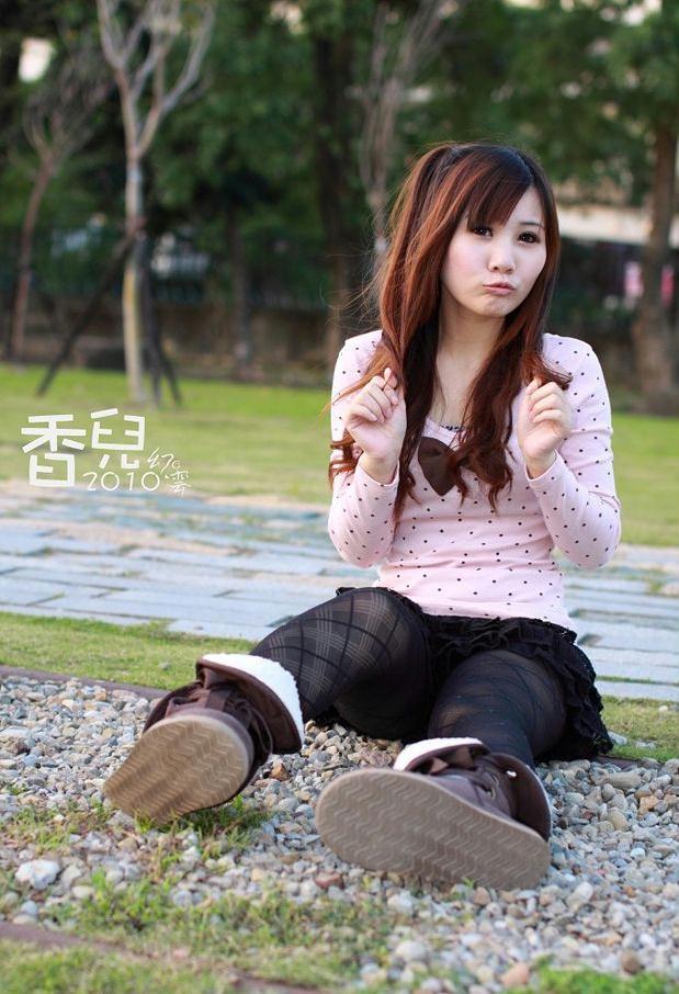 清纯MM香儿华山写真 笑容很甜很美