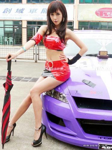 北京车展性感赛车宝贝 陈诺