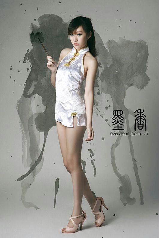 模特李文倩《墨香》主题旗袍摄影